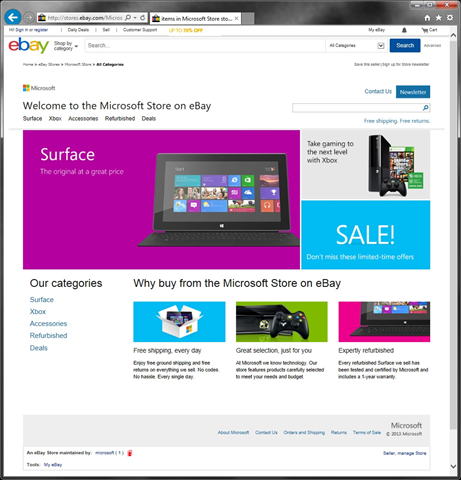 科技巨头集体追逐网购:微软宣布在eBay开店