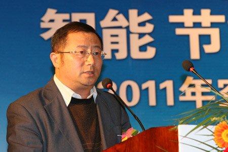 图文:志高空调公司常务副总裁郑祖义讲话