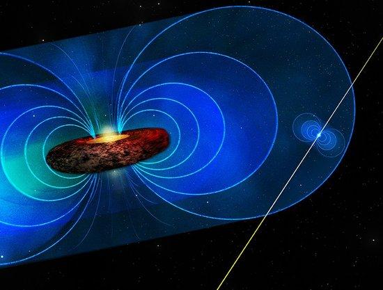 科学家通过脉冲星测量到银河系中心黑洞磁场