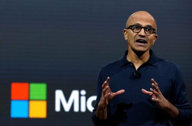 纳德拉重振微软努力见效 微软市值17年后再次超过5000亿美元