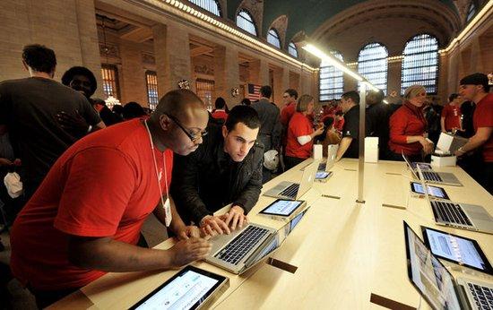 苹果零售数据:去年平均每员工贡献47万美元
