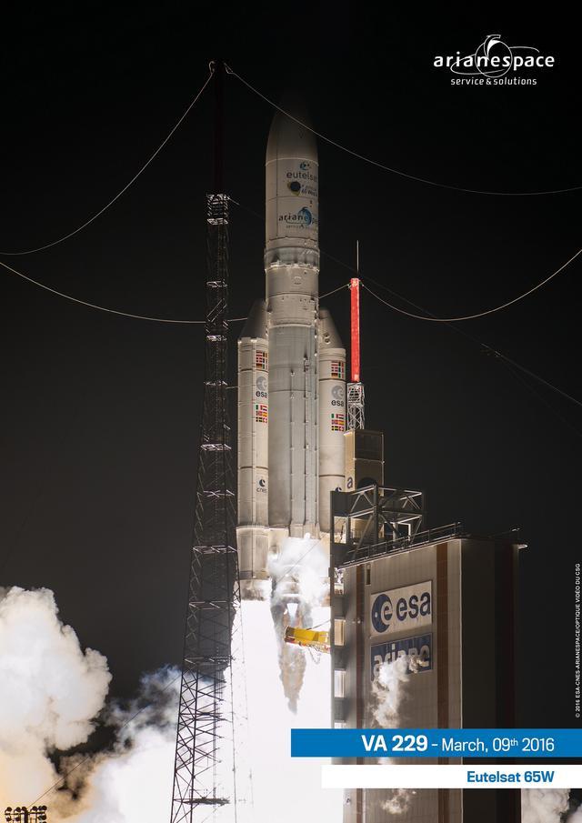 欧洲阿丽亚娜火箭成功发射一颗通信卫星
