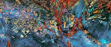 美地质勘探局发布地球卫星图 美似油画