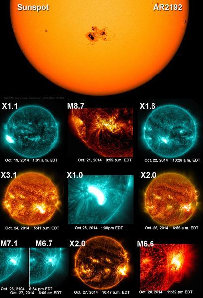 太阳数天内连续爆发10个超强耀斑