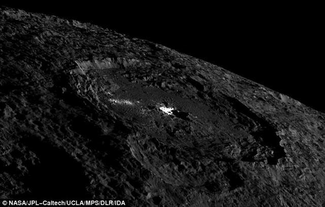 谷神星冰火山喷发形成独特明亮圆顶结构
