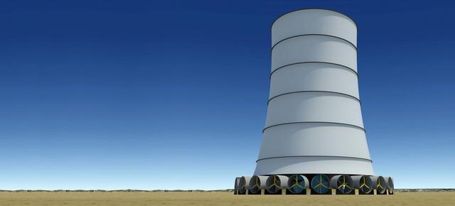 """这座风力发电塔可以""""呼风唤雨"""""""