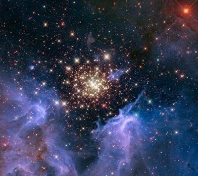 天文学家发现新恒星群 如空中烟花般绚丽
