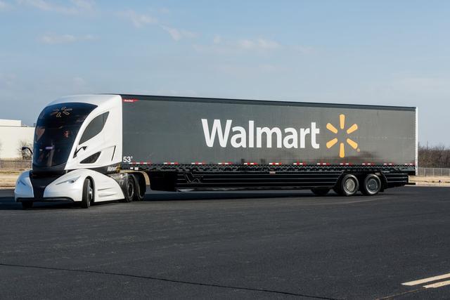 沃尔玛大胆尝试:未来运货卡车应该是这样!