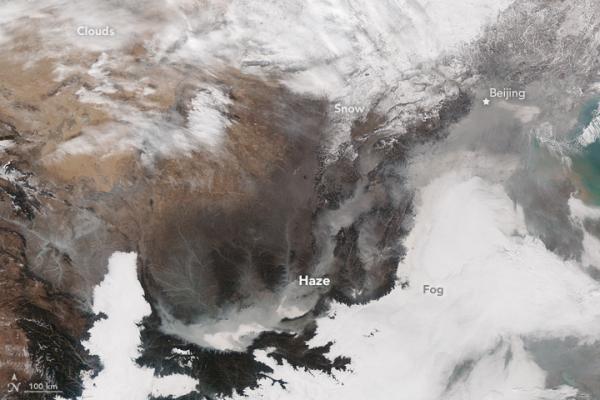 NASA:燃煤是中国上空严重雾霾的祸首