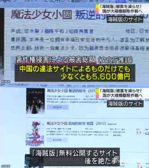 日本拟大规模清理中国等海外盗版动漫网站