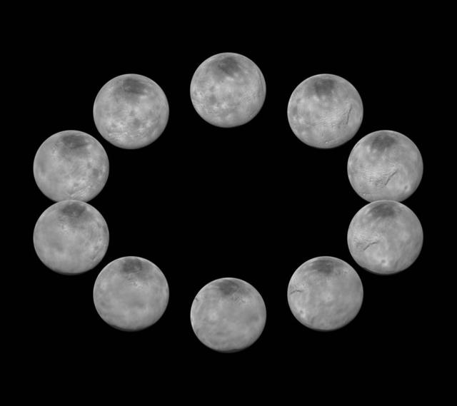 美国宇航局发布冥王星一天自转周期连续画面
