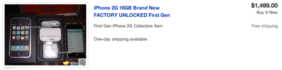第一代iPhone变身藏品 售价数千美元