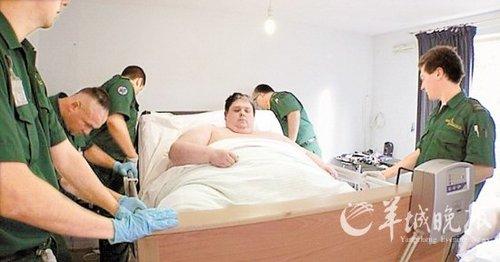 英男子368公斤世界最胖 10年不离开床铺(图)