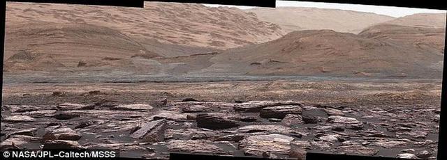 好奇号火星车最新发现火星存在紫色岩石