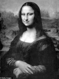 蒙娜丽莎眼中有达芬奇密码 右眼球有LV字样
