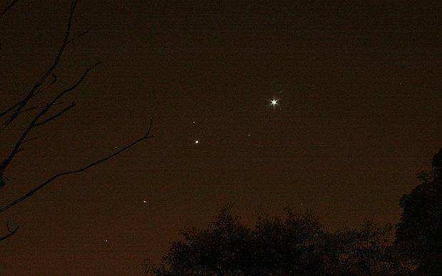 金木火三星太空聚首 六年后才能再次相邻