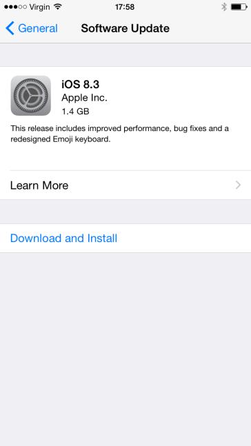 iOS8.3发布