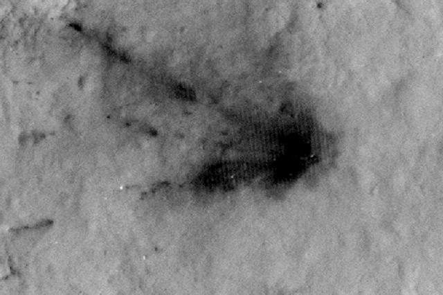 """好奇号减速器坠毁痕迹已被火星环境""""净化"""""""