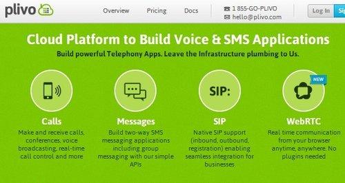 语音通话和信息云平台Plivo融资175万美元