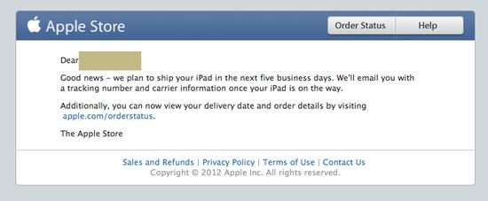 苹果邮件显示LTE版iPad mini将在5日内发货