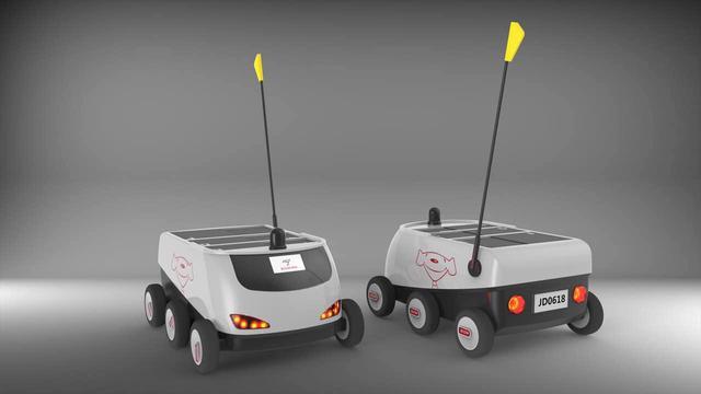 京东发布国内首辆无人配送车 明年将有望大规模商用