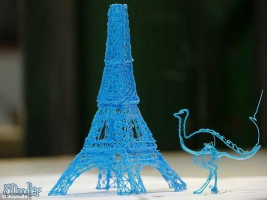 能打印艾菲尔铁塔的3D涂鸦笔 售价仅50美元