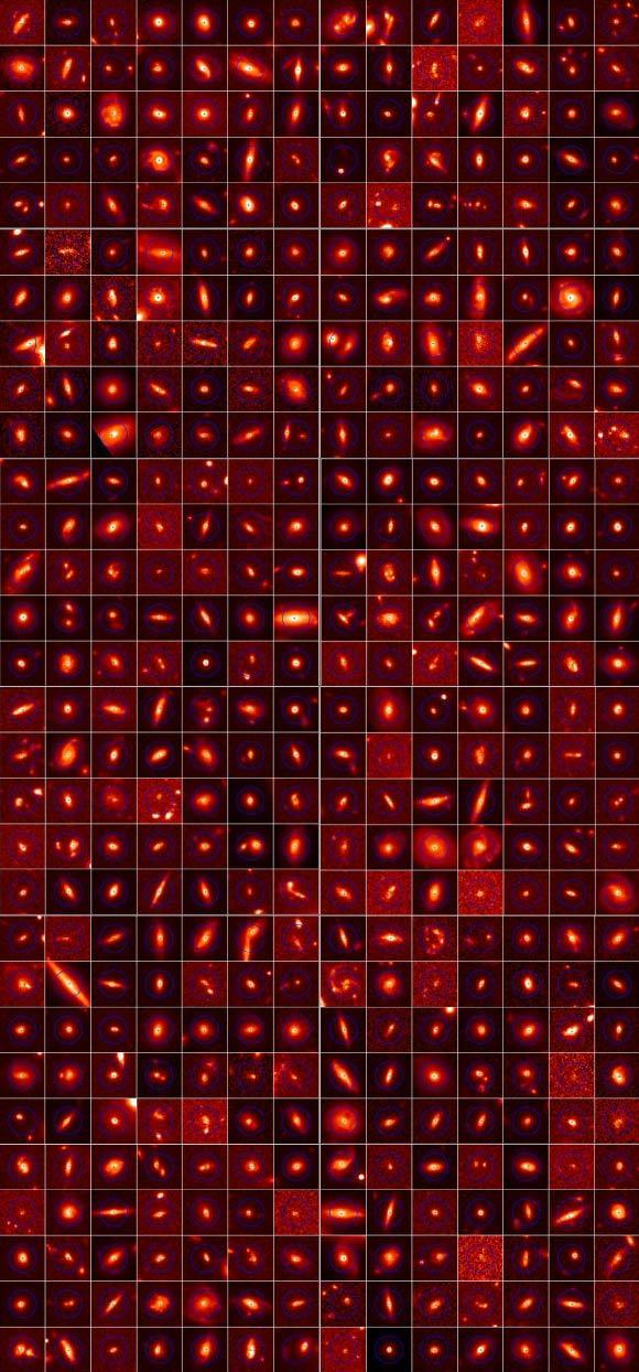 """科学家发现过去几十亿年里出现""""星系变形"""""""