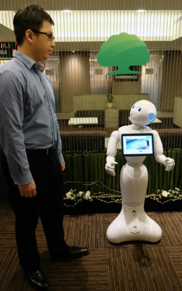 Pepper机器人现身台湾 干起了保险推销员