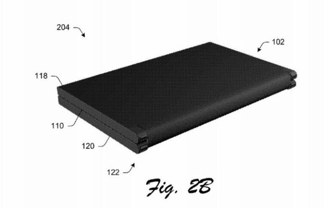 微软新专利:折叠手机打开就是平板 但手机略显笨拙