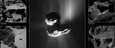 罗塞塔探测器发现67P彗星悬崖斜坡