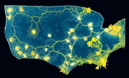 科学家培育黏液菌生长使用出美国地形图优秀广告设计师图片