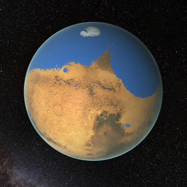 火星曾存在大面积海洋 最深达1600米