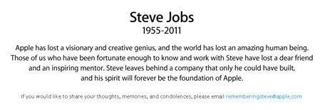苹果联合创始人、董事会主席乔布斯逝世
