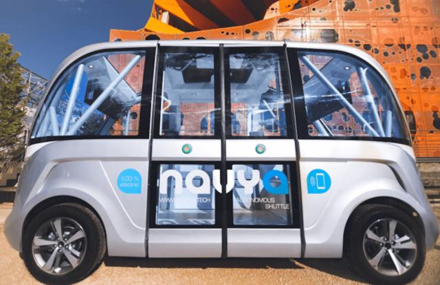 自动驾驶巴士现身赌城街头 首次出现在美国公共道路上