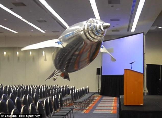 酷炫机器人:机器企鹅和机器水母能在空中飞