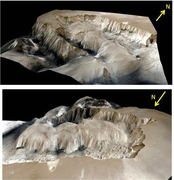 印度发布火星峡谷的三维高清图像