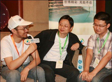 郭吉军(左)、管鹏(中)、牟长青(右)