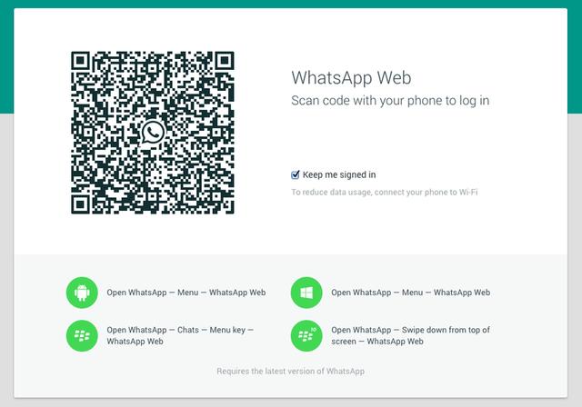 学微信扫码登录?WhatsApp推出网页版