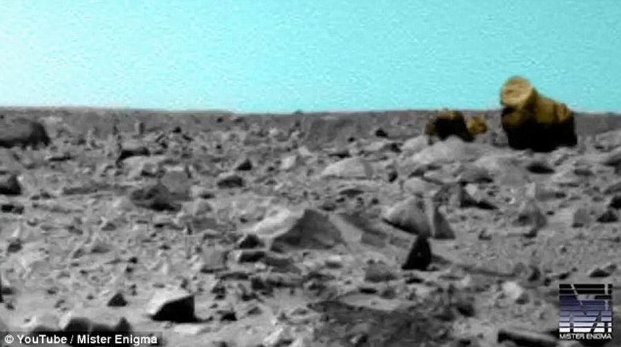 外星人猎手发现火星神秘岩石酷似大猩猩