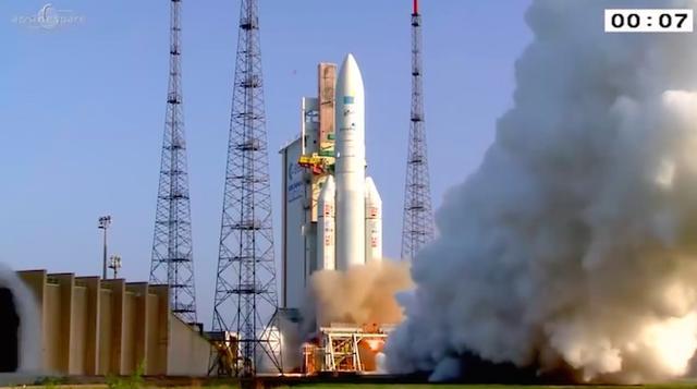 欧洲阿丽亚娜火箭成功发射两颗通信卫星