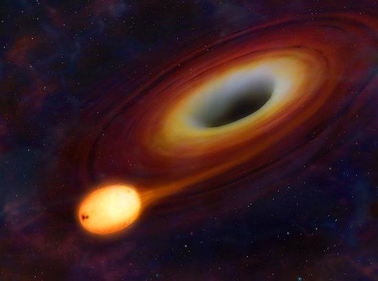 宇宙空间某处发现神秘能量束 黑洞正吞噬恒星_腾讯 - 武世前 - 送君一束玫瑰花