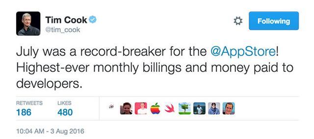 App Store迎来新里程碑:已向开发者累计支付500亿美元