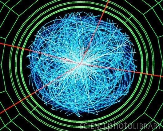 """""""希格斯""""粒子是如何产生的形象说明"""
