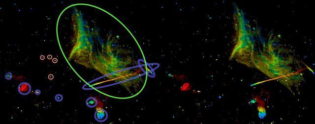 """天文学家观测到""""星系大混战后""""后的遗迹"""