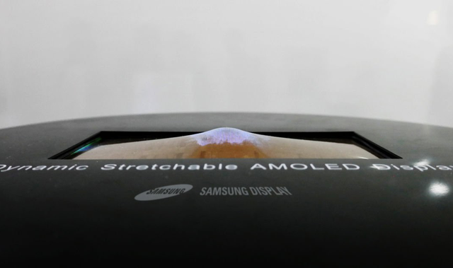 Never afraid of the fall? Samsung's mobile phone screen According to the will fall down