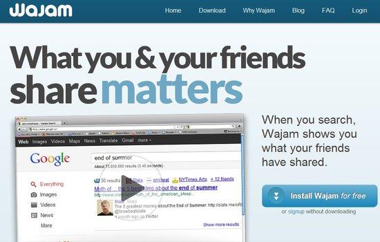 Wajam更新社交搜索功能 与谷歌展开竞争
