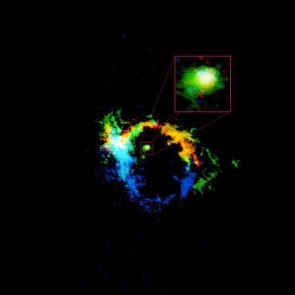 智利望远镜观测到物质云被抛出黑洞