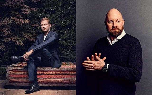 Founders Fund创始人彼得・蒂尔(左)和Andreessen Horowitz创始人马克・安德森(右)