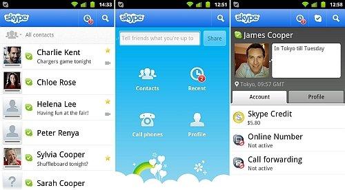 Android版Skype2.5升级视频体验 增14款手机