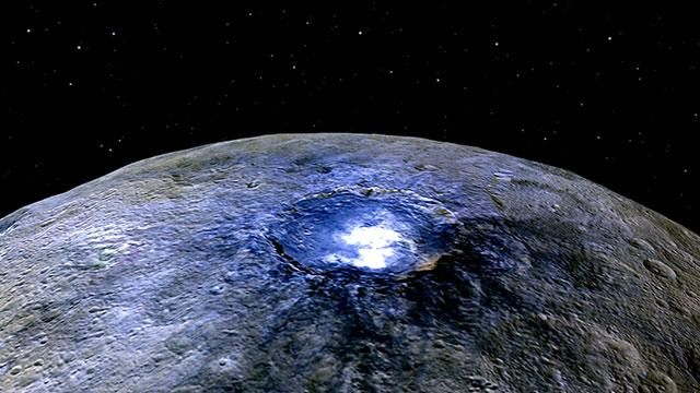 NASA发布谷神星高清图像:撞击坑亮斑成谜